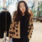 Leopard Print V-neck Cardigan