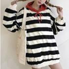 Couple Matching Striped Oversized Hoodie
