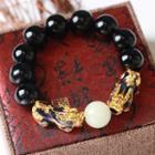 Obsidian Bead Bracelet 800 - Black - One Size