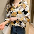 Long-sleeve Floral-print Shirt
