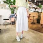 Band-waisted Long Skirt