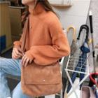 Corduroy Messenger Bag Almond - One Size