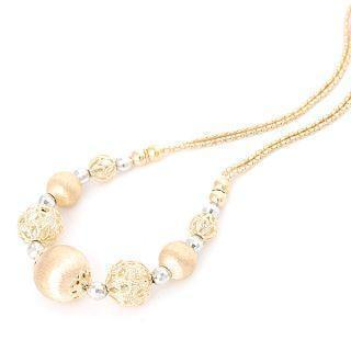 18k White & Yellow Gold Necklace