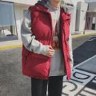 Removable Hooded Zip Padded Vest