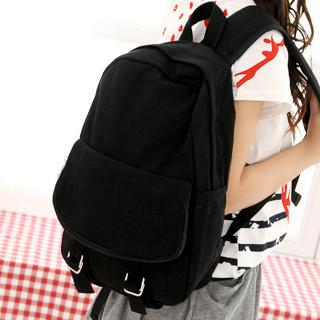 Canvas Backpack Black - One Size
