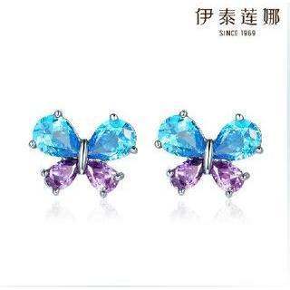 Swarovski Elements Crystal Butterfly Ear Studs