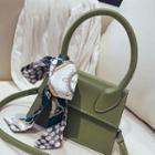 Scarf Bow Faux Leather Handbag