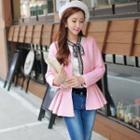 Peplum Buttoned Jacket