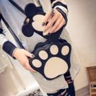 Faux-leather Paw Cross Bag