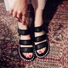 Faux Pearl Velcro Sandals