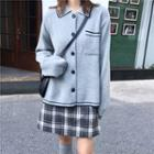 Knit / Plaid Mini Skirt / Plaid Maxi Skirt
