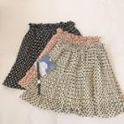 Polka Dot Chiffon Pleated Skirt