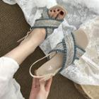 Cross Pattern Strap Sandals