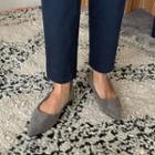 Pointy Faux-suede Flats