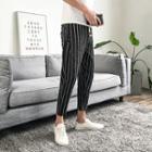 Pinstriped Crop Harem Pants