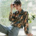 Printed Long-sleeve Shirt / Shirtdress