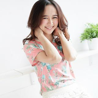 Short-sleeve Floral T-shirt