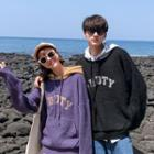 Couple Matching Long Sleeve Hooded Knit Top
