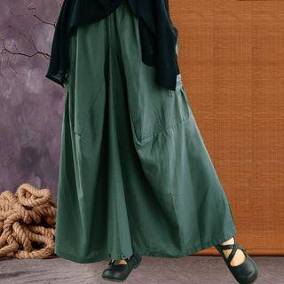 Two-way Maxi A-line Skirt