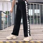 Heart Print Straight-fit Pants