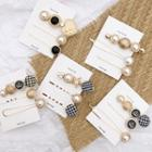 Set: Houndstooth Disc / Faux Pearl / Rhinestone Hair Pin (various Designs)