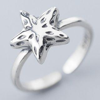 925 Sterling Silver Star Ring S925 Silver - As Shown In Figure - One Size