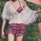 Set: Printed Bikini + Swimskirt + Cover-up