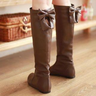 Bow Accent Long Boots