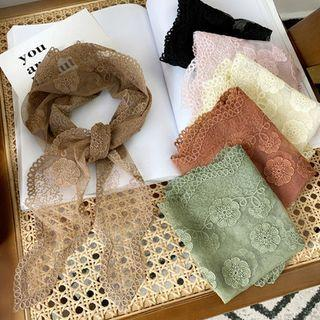 Sheer Lace Scarf