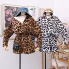 Set: Leopard-print Shirt + Shorts