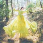 Long-sleeve Tiered Maxi Dress