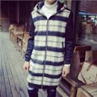 Plaid Zip Plaid Long Jacket