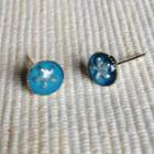 Resin Little Snowflake Earrings (blue) One Size