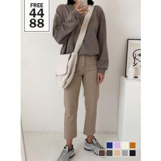 Colored Boxy-fit Cotton Pullover