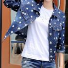 Dotted Denim Jacket