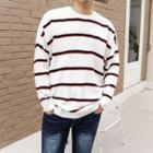 Plus Size Striped Sweater