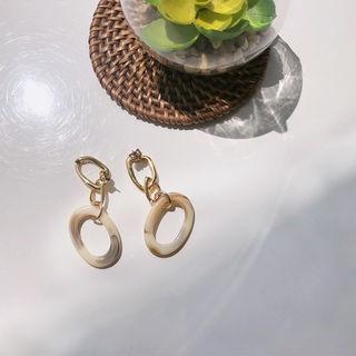 Hoop Dangle Earrings Gold -one Size