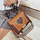Heart Buckled Shoulder Bag