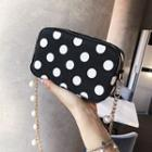 Dotted Faux Leather Crossbody Bag