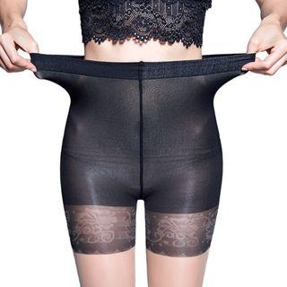 Two-tone Lace Tights