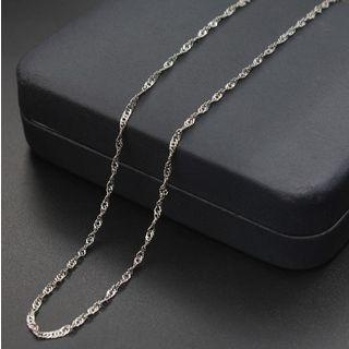 925 Sterling Silver Chained Necklace As Shown In Figure - 16 Inches