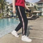 Side Zip Drawstring Sweatpants