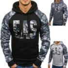 Long-sleeve Letter Printed Hooded Pullover