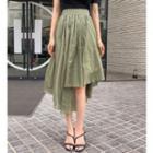 Asymmetric Gathered Skirt