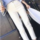 High-waist Plain Jeans