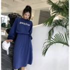 Set: Lettering Loose-fit Pullover + Skirt