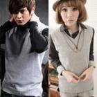 Sleeveless V-neck Knit Top