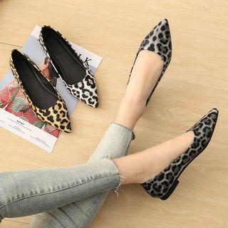 Pointy Leopard Print Flats