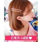 Set Of 2: Rhinestone Bobby Hair Pin