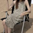 Zebra Strappy Sheath Dress